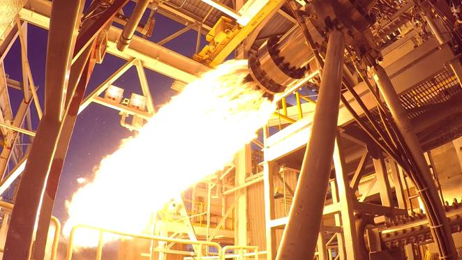 Staged-combustion testing at NASA's Stennis Space Center in Mississippi for the AR1 program is being developed by Aerojet Rocketdyne