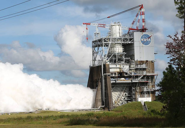 Aerojet Rocketdyne's RS-25 engine fires for 420 seconds at NASA's Stennis Space Center