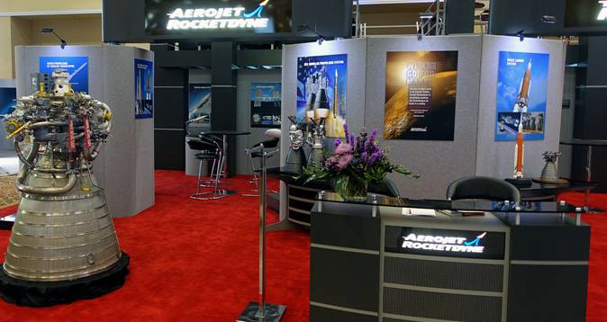 Aerojet Rocketdyne's exhibit is located at booth 118 in the Boeing Exhibit Center and Pavilion