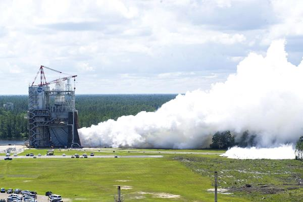 The RS-25 engine team tests their second flight controller at NASA's Stennis Space Center