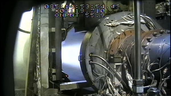 Aerojet Rocketdyne completes a successful series of hot-fire tests of an advanced air-breathing hypersonic engine under the USAF's MSCC program. Some of the camera titling has been removed for a clearer image. Image courtesy of Aerojet Rocketdyne.