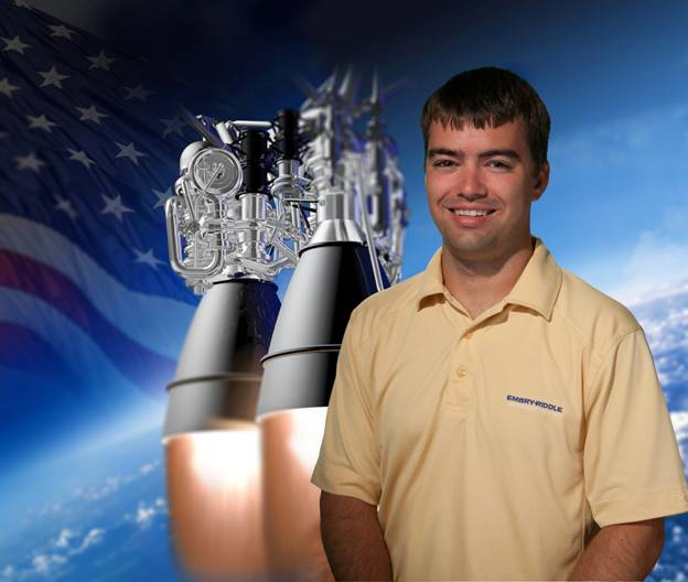 Bryce Chanes, Aerojet Rocketdyne summer 2016 intern for the AR1 program