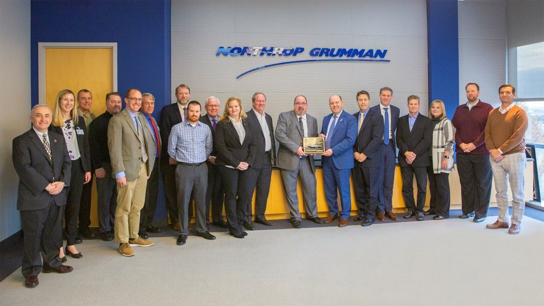 Aerojet Rocketdyne and Northrop Grumman representatives celebrate the 20,000th delivery milestone at Northrop Grumman's facility in Dulles, VA.