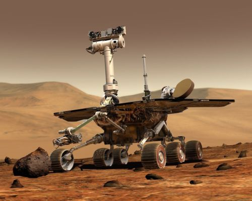 Animation of twin rovers Spirit and Opportunity, NASA's Mars Exploration Rovers. Credit: NASA
