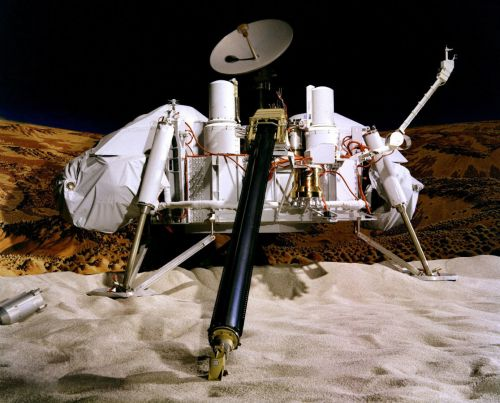 Photo of a model of the Viking landers. Credit: NASA