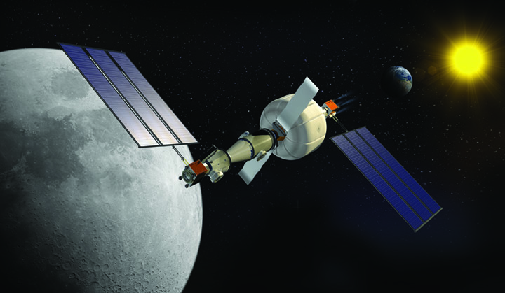 NASA's Lunar Gateway. Image courtesy of Sierra Nevada Corp.