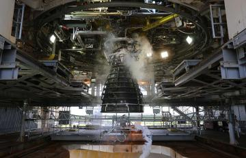July 10, 2018 - The AR-22 engine built by Aerojet Rocketdyne during hot-fire testing at NASA Stennis on June 27, 2018. The engine was built for Boeing as part of the U.S. Defense Advanced Research Projects Agency Experimental Spaceplane program.