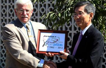 On Sept. 17, 2012, Aerojet and Daicel, a Japanese defense corporation, marked 50 years of partnership with the planting of a cherry blossom tree at Aerojet's headquarters in Sacramento.