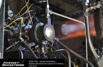 On Oct. 17, 2014, NASA and Aerojet Rocketdyne successfully completed a series of hot-fire tests on an advanced rocket engine Thrust Chamber Assembly (TCA) using copper alloy additive manufacturing technology.