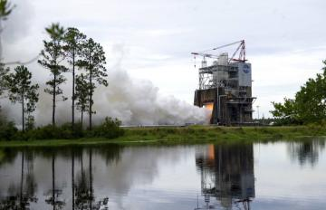 March 10, 2016 - RS-25 Engine Test at NASA's Stennis Space Center. Photo Credit: NASA