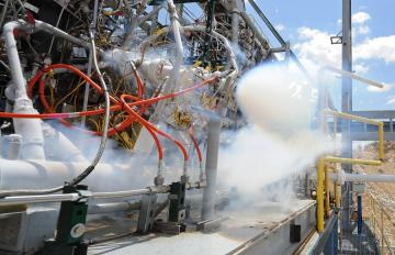 Sept. 06, 2016 - Hydrocarbon Boost Sub-Scale Oxygen Rich Preburner Test at AFRL