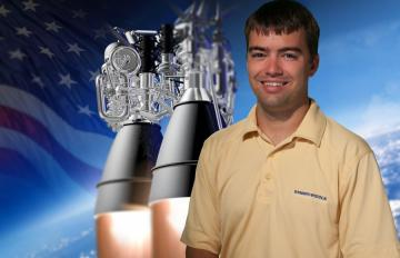 Sept. 26, 2016 - Bryce Chanes, Aerojet Rocketdyne summer 2016 intern for the AR1 program