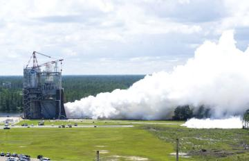 May 23, 2017 - The RS-25 engine team tests their second flight controller at NASA's Stennis Space Center.