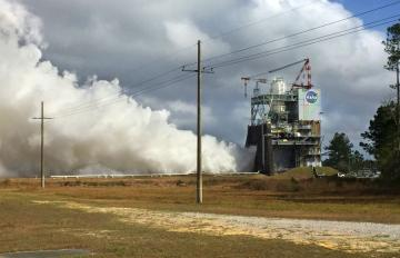 NASA and Aerojet Rocketdyne Test the RS-25 Engine for NASA's Space Launch System at Stennis Space Center