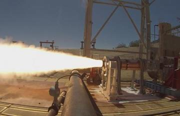 Aug. 6, 2018 - An Aerojet Rocketdyne solid rocket motor that had been conditioned to mimic an extreme cold-soak condition for air-launch application recently completed successful hot-fire testing at AFRL at Edwards Air Force Base in California