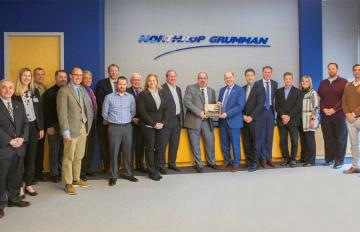 December, 2019 - AR and Northrop Grumman representatives celebrate the 20,000th delivery milestone at Northrop Grumman's facility in Dulles, VA.