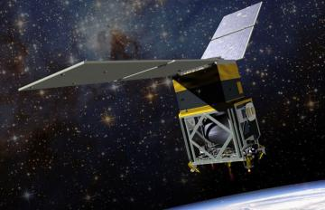 Carried to orbit on a Ball Aerospace smallsat, the GPIM project will test an innovative, efficient alternative to toxic conventional chemical propellants. Credits: Ball Aerospace