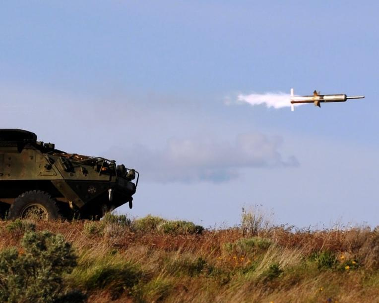 May 28, 2011-Soldiers in C Company 52nd Infantry Regiment, 3rd Stryker Brigade Combat Team, 2nd Infantry Division fire a TOW missile from their Anti-Tank Guided Missile (ATGM) Stryker during a live fire range Yakima Training Ctr.