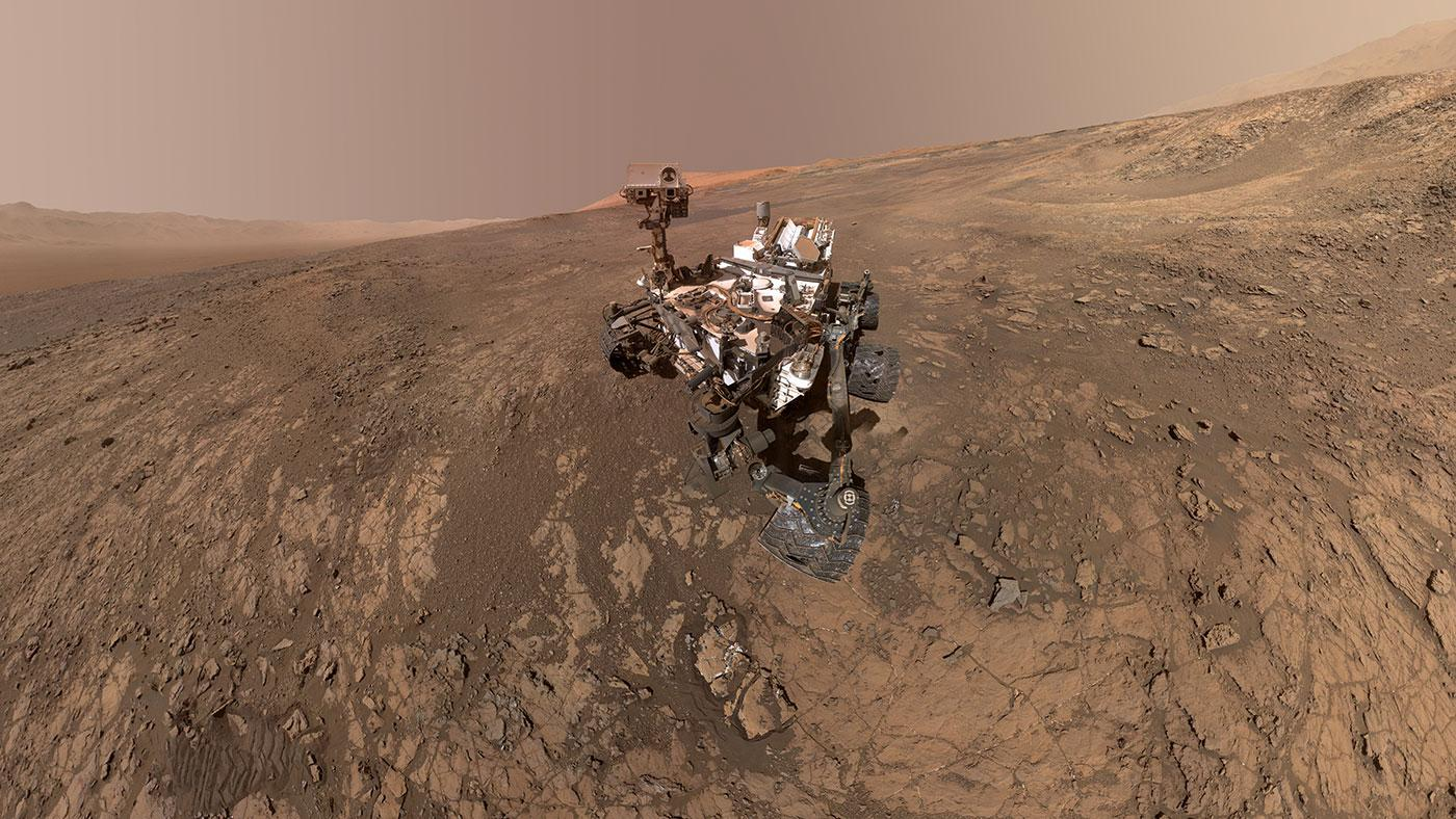 Feb. 23, 2015-Curiosity Self-Portrait at 'Mojave' Site on Mount Sharp. Photo courtesy of NASA.