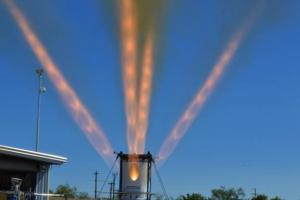Third development jettison motor for NASA's Orion Launch Abort System fires for 1.5 seconds at Aerojet Rocketdyne's facility in Sacramento, California