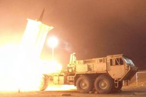 A Terminal High Altitude Area Defense (THAAD) interceptor is launched from the Pacific Spaceport Complex Alaska in Kodiak, Alaska, during Flight Experiment THAAD (FET)-01 on July 30, 2017 (EDT). Credit: MDA