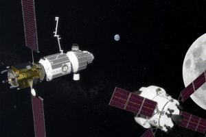 "2018-Illustration: ""Gateway"" is NASA's Lunar Orbiting Station. Credit: NASA"