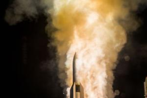 The MDA & sailors aboard USS John Paul Jones (DDG 53), an Aegis baseline 9.C1 equipped destroyer, successfully fired a salvo of two SM-6 Dual I missiles against a complex medium-range ballistic missile target, Dec. 14, 2016 Credit: MDA