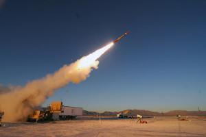 July 26, 2018-PAC-3 Missile Segment Enhancement interceptor set a distance record in its latest flight test with the longest one-shot hit-to-kill intercept against an   Air-Breathing Threat at White Sands Missile Range. Photo courtesy of Lockheed Martin.